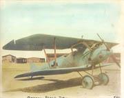 WWI German Pfalz DIIIA Colorized Biplane Photo