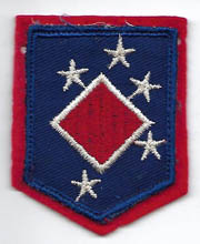 WWII US Marine Corps 1st MAC Headquarters Bloodied Twill Patch