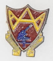 WWII 132nd Anti-Aircraft Artillery Battalion Theatre Made DI
