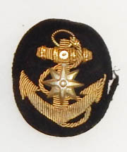 WWII Imperial Japanese Navy Merchant Marine Enlisted Cap Badge