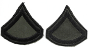 Vietnam Private First Class 1st Style Twill Subdued Chevron Set