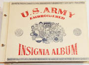 WWII Complete Army Embroidered Insignia / Patch Album