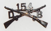 WWI 154th Disciplinary Barracks Officers Collar Device