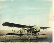 WWI British Vickers Vampire Colorized Biplane Photo