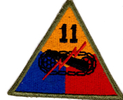 WWII 11th Armor Division Patch