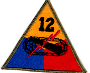 WWII 12th Armor Division Patch