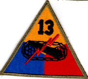 WWII 13th Armor Division Patch