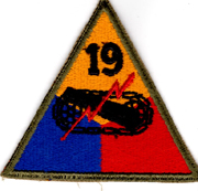 WWII 19th Armor Division Patch.