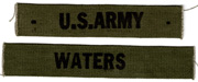 1960's US Army Branch & Name Strip Set