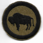WWI 92nd Division Buffalo Patch