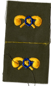 1960's US Army Chemical Corps Officer Collar Patch