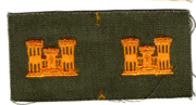 1960's US Army Engineer Officer Collar Patch