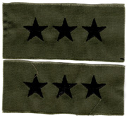 Vietnam Era Lieutenant General Officers Collar Rank