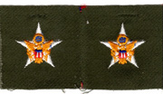 1960's US Army Geenral Staff Officers BOS Collar  Patch.
