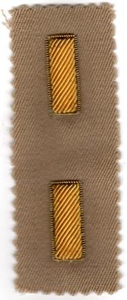 1950's-1960's Bullion 2nd Lieutenant Officers Rank