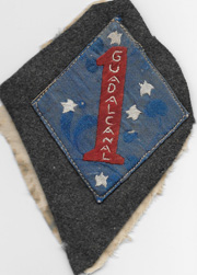 WWII - Occupation Chinese Brocade Raw Silk 1st Marine Division Identified Patch