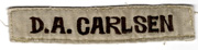 Vietnam US Marine Corps In-country Made Name Strip