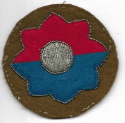 WWII - Occupation 9th Division German Made Bullion Patch