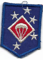 WWII US Marine Corps 1st MAC Para / Airborne  Twill Small Size Patch