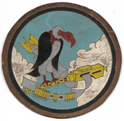 WWII 825th Bomb Squadron Italian Made Incised Leather Squadron Patch