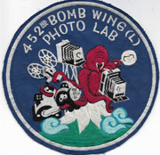 1950's 452nd Bomb Wing (L) Photo Lab Japanese Made Squadron Patch