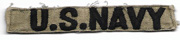Vietnam US Navy In-country Made Name Strip
