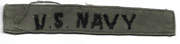 Vietnam US Navy In-country Made Branch Strip