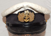 WWII Imperial Japanese Naval Officers White Cover Visor Hat