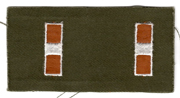 1960's US Army Chief Warrant Officer 1 Collar Rank Patch