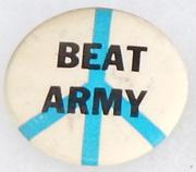Vietnam Era Peace Beat Army Pin