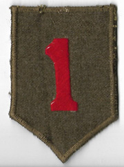 WWII English Made 1st Division Patch