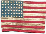 WWII Leather CBI Made US Flag Back Patch