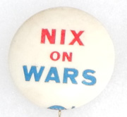 Vietnam Era Nix On Wars Pin
