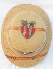 WWII CBI HUMP JOCKEY Indian Made War Art Pith Helmet