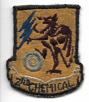1940's-50's 2nd Chemical Mortar Battalion Patch