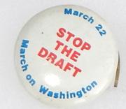Vietnam Era Stop The Draft March On Washington Pin