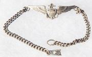 WWII US Marine Corps / US Navy Pilots Wing Sweetheart Bracelet