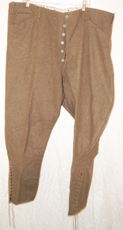 WWI New Old Stock / NOS Large Size 44 Waist Wool Enlisted Breeches