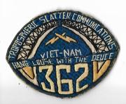 Vietnam Martha Raye's 362nd Communications Pocket Patch