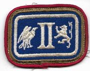 WWII Or Before 2nd Corps Artillery Greenback OD Border Patch