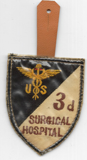 Vietnam Martha Raye's 3rd Surgical Hospital Pocket Hanger Patch