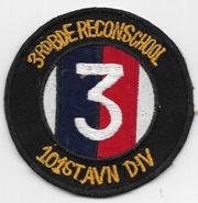 Vietnam 3rd Brigade Recon School 101st Airborne Division Pocket Patch