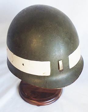Lieutenant Vietnam Era Helmet Liner With Painted White Stripe