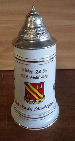 42nd Field Artillery Beer Stein Nude Lithophane