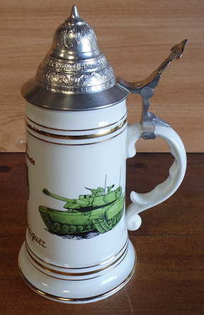 3rd Armored Division Beer Stein Nude Lithophane