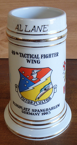 49th Tactical Fighter Wing Beer Stein Nude Lithophane