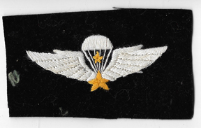 ARVN / South Vietnamese Army Special Forces Senior Airborne Jump Wing Patch