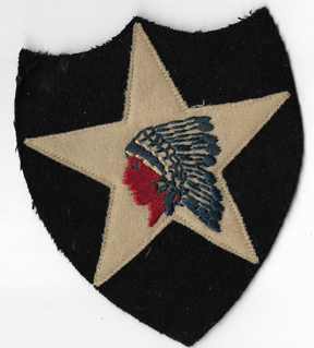 1920's-30's 2nd Division Multi-Piece Wool Patch