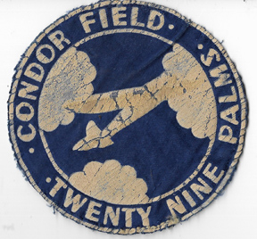 WWII Condor Field Glider School Twenty-Nine Palms California Squadron Patch