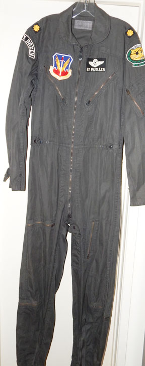 Vietnam US Air Force 8th Tactical Bomb Wing Doom Pussy Dirty Dozen Black Dyed K2B Flight Suit